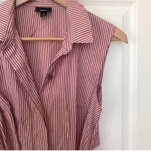 Mossimo Striped Cut-Out Back Shirt Dress